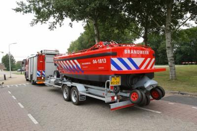 Het brandweervaartuig kan vanaf een kadehoogte van 1.25 meter te water worden gelaten.